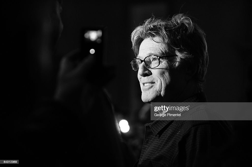 Sundance Institute President and Founder <a gi-track='captionPersonalityLinkClicked' href=/galleries/search?phrase=Robert+Redford&family=editorial&specificpeople=202897 ng-click='$event.stopPropagation()'>Robert Redford</a> speaks at the Opening Day Press Conference during the 2009 Sundance Film Festival at the Egyptian Theatre on January 15, 2009 in Park City, Utah.