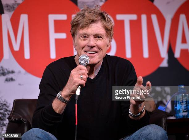 Sundance Institute President and Founder Robert Redford speaks onstage during the Day One Press Conference at the Egyptian Theatre during the 2014...