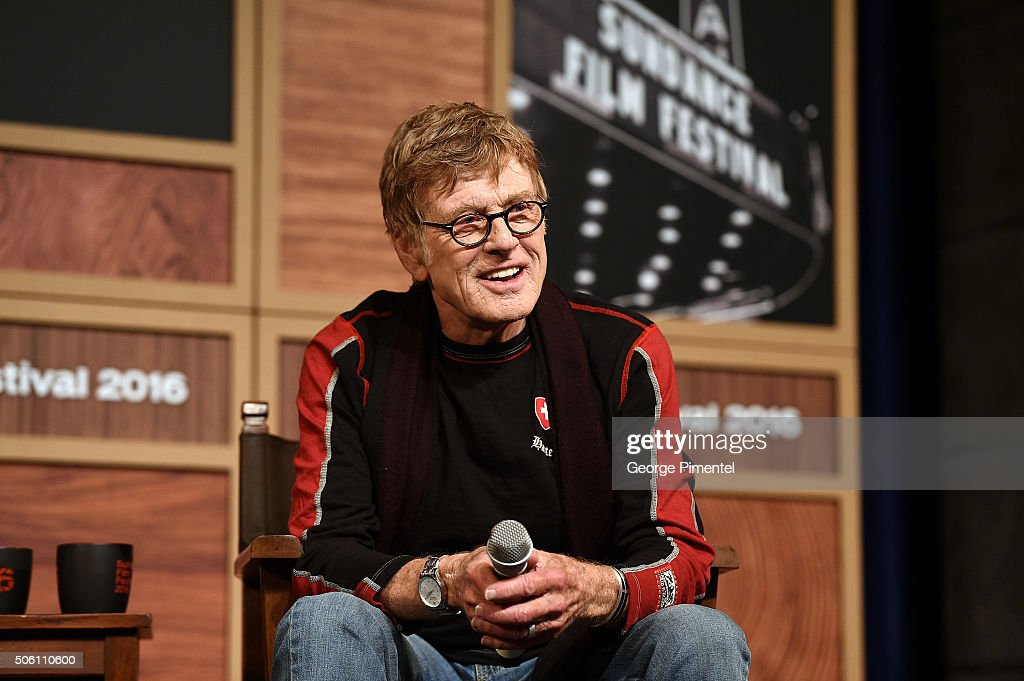 Sundance Institute President Robert Redford attends the 2016 Sundance Film Festival Day One Press Conference at Egyptian Theatre on January 21 2016...