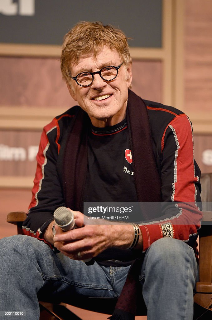 Sundance Institute President <a gi-track='captionPersonalityLinkClicked' href=/galleries/search?phrase=Robert+Redford&family=editorial&specificpeople=202897 ng-click='$event.stopPropagation()'>Robert Redford</a> attends the 2016 Sundance Film Festival Day One Press Conference at Egyptian Theatre on January 21, 2016 in Park City, Utah.