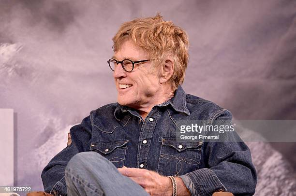 Sundance Institute President Robert Redford during the Day One Press Conference for 2015 Sundance Film Festival on January 22 2015 in Park City Utah