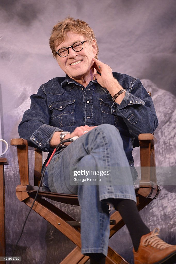 Sundance Institute President <a gi-track='captionPersonalityLinkClicked' href=/galleries/search?phrase=Robert+Redford&family=editorial&specificpeople=202897 ng-click='$event.stopPropagation()'>Robert Redford</a> during the Day One Press Conference for 2015 Sundance Film Festival on January 22, 2015 in Park City, Utah.