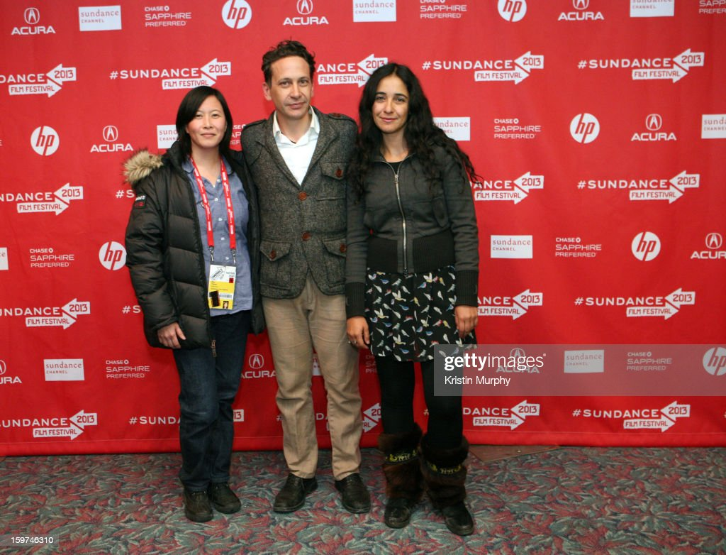 Sundance Programmer Kim Yutani, Bruno Bettati and director Alicia Scherson attend 'The Future' premiere at Prospector Square during the 2013 Sundance Film Festival on January 19, 2013 in Park City, Utah.
