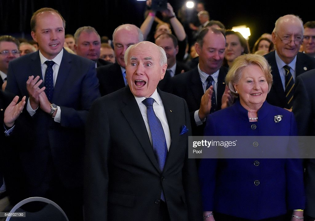Sunday 26 June, 2016 Election, Prime Minister Malcolm Turnbull officially launches the Liberal 2016 Federal Campaign with wife Lucy and Liberal party members Julie Bishop, Treasurer Scott Morrison, Barnaby Joyce as well as ex PMs Tony Abbott and John Howard at Homebush Novotel.