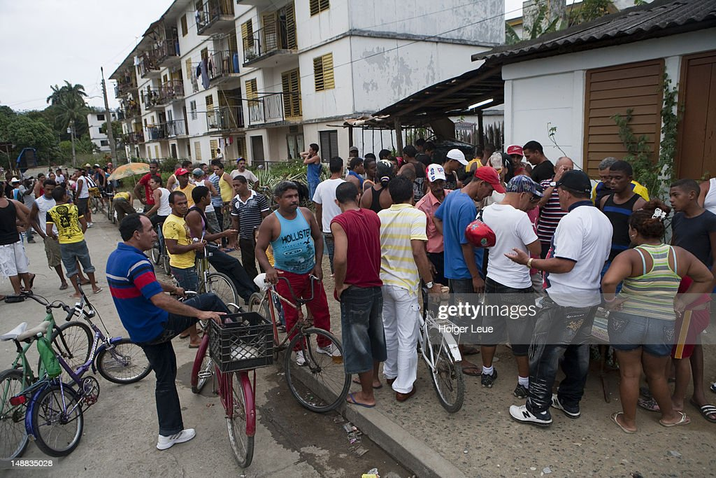 Sunday afternoon street party. : Stock Photo