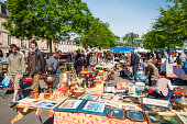 Sunday flea market near La Garonne river