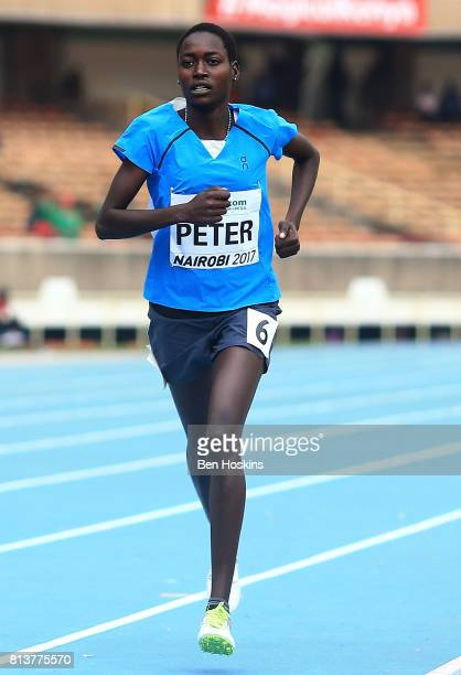 Sunday Kamisa Peter of Kenya in action during round one of the girls 800m on day two of the IAAF U18 World Championships at the Kasarani Stadium on...