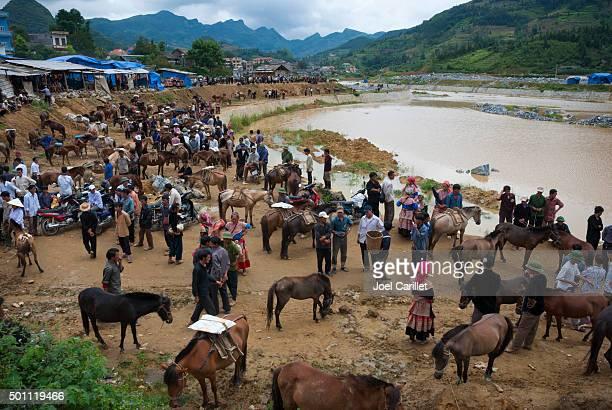 Sonntagsmarkt in Bac Ha, Vietnam