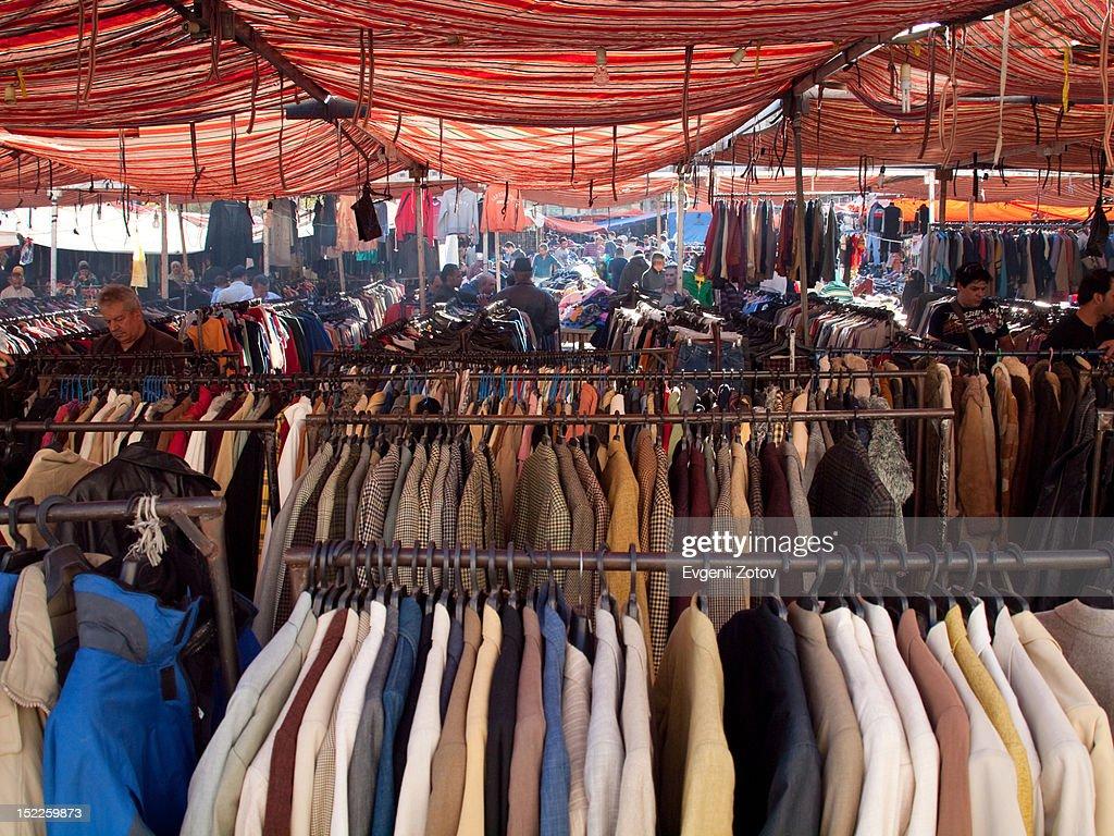 Sunday market : Stock Photo