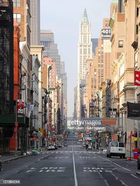 Sunday morning on Broadway