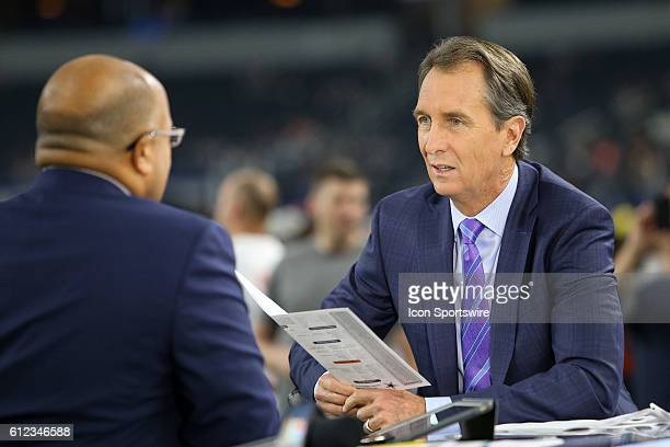 Sunday Night Football commentator Chris Collinsworth during the NFL game between the Dallas Cowboys and the Chicago Bears at ATT Stadium in Arlington...