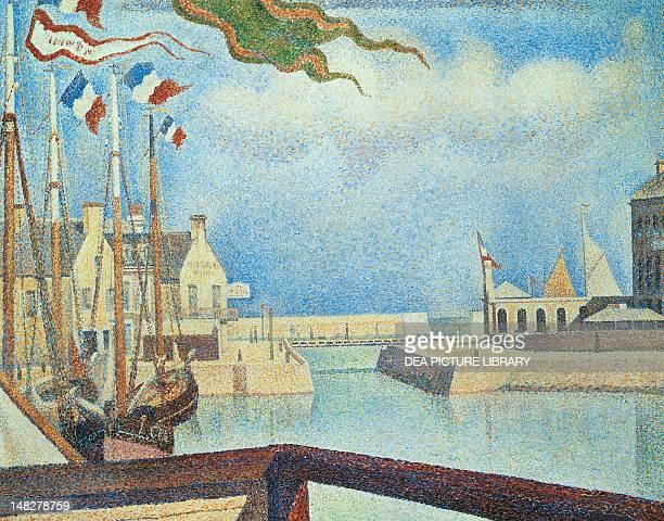 Sunday PortenBessin by Georges Seurat oil on canvas 65x81 cm Otterlo Rijksmuseum KrollerMuller