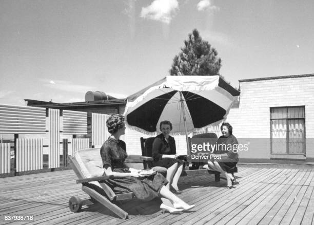 Sundeck Feature of Sorority House on Friday Tour A sundeck is part of the accommodations enjoyed by Alpha Gamma Deltas at the University of Denver...