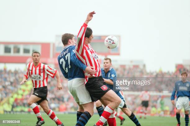 Sunderland 30 Everton Premier league match at Roker Park the last match played at Roker Park Saturday 3rd May 1997 our picture shows Niall Quinn in...