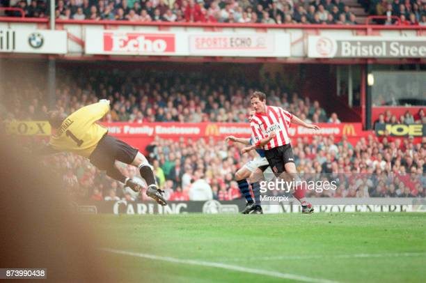 Sunderland 30 Everton Premier league match at Roker Park the last match played at Roker Park Saturday 3rd May 1997 our picture shows Allan Johnston...