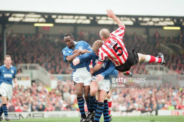 Sunderland 30 Everton Premier league match at Roker Park the last match played at Roker Park Saturday 3rd May 1997 our picture shows match action...