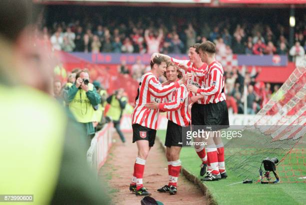 Sunderland 30 Everton Premier league match at Roker Park the last match played at Roker Park Saturday 3rd May 1997 our picture shows Chris Waddle...