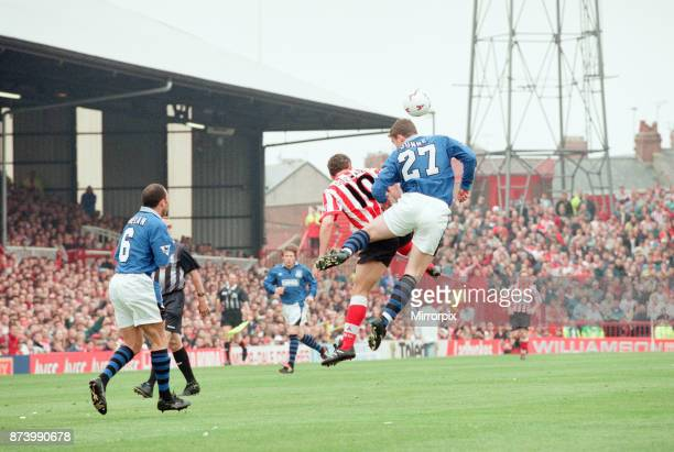 Sunderland 30 Everton Premier league match at Roker Park the last match played at Roker Park Saturday 3rd May 1997 our picture shows match action