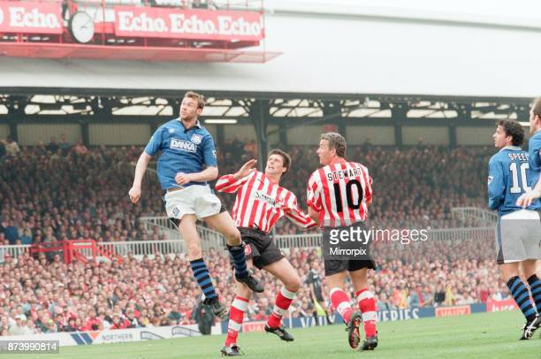 Sunderland 30 Everton Premier league match at Roker Park the last match played at Roker Park Saturday 3rd May 1997 our picture shows Duncan Ferguson...