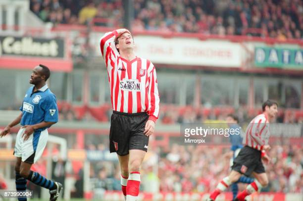 Sunderland 30 Everton Premier league match at Roker Park the last match played at Roker Park Saturday 3rd May 1997 our picture shows Niall Quinn