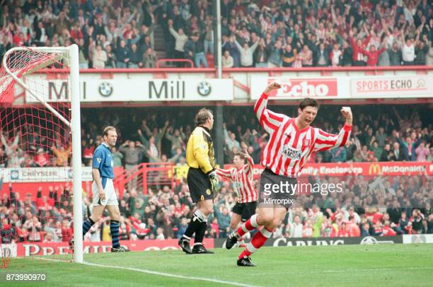Sunderland 30 Everton Premier league match at Roker Park the last match played at Roker Park Saturday 3rd May 1997 our picture shows Niall Quinn...