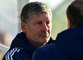 Sunderland Assistant Manager Paul Bracewell watches on during a pre season friendly between Darlington and Sunderland at Heritage Park on July 9 2015...