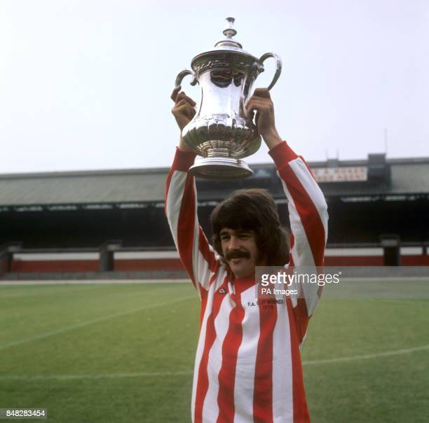 Sunderland Captain Bobby Kerr holding up the FA Cup which they North East side had won at Welmbley at the end of the 197273 season