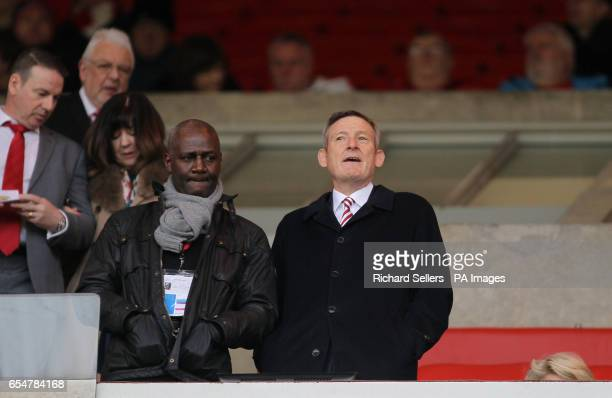 Sunderland chairman Ellis Short in the stands prior to the Premier League match at the Stadium of Light Sunderland
