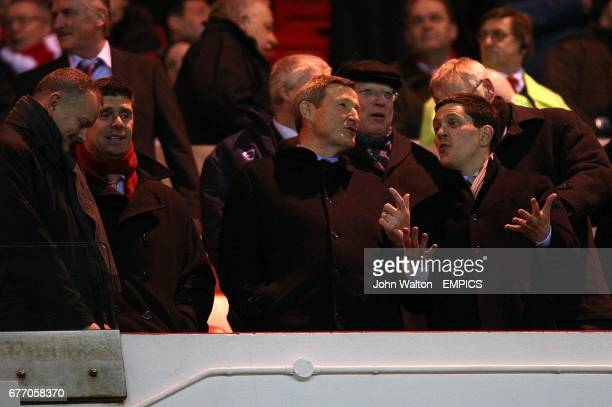CROP* Sunderland chairman Niall Quinn Ellis Short and David Miliband in the stands