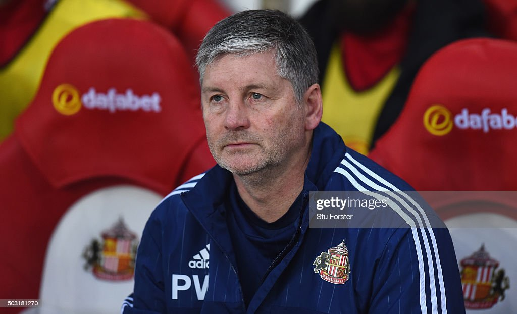 Sunderland coach Paul Bracewell looks on before the Barclays Premier League match between Sunderland and Aston Villa at Stadium of Light on January 2...