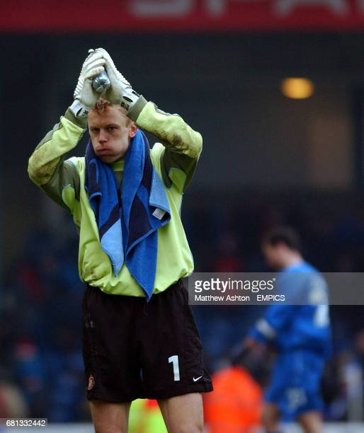Sunderland goalkeeper Mart Poom applauds the travelling fans after his team lost 40 at Cardiff City