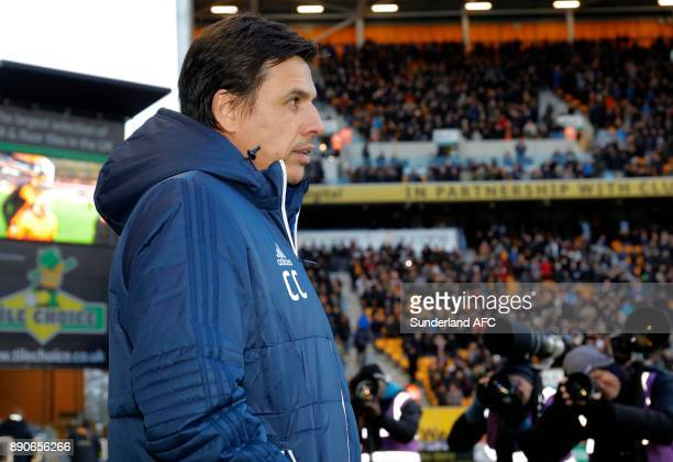 Sunderland manager Chris Coleman looks on during the Sky Bet Championship match between Wolverhampton and Sunderland at Molineux on December 9 2017...