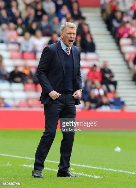 Sunderland manager David Moyes during the Premier League match between Sunderland and Swansea City at Stadium of Light on May 13 2017 in Sunderland...