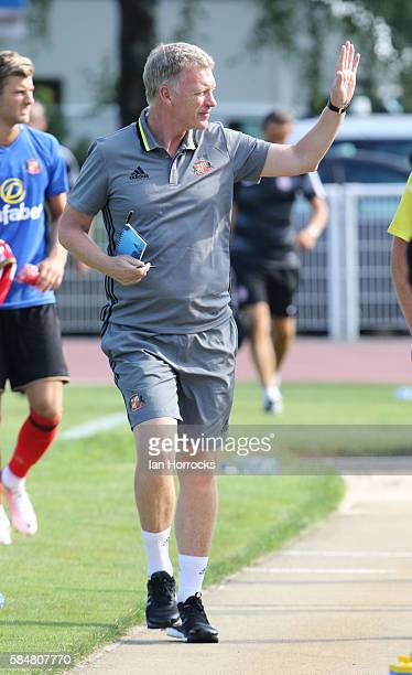 Sunderland manager David Moyes during the preseason friendly match between Sunderland AFC and Montpellier HSC at Stade Jacques Forestier on July 30...