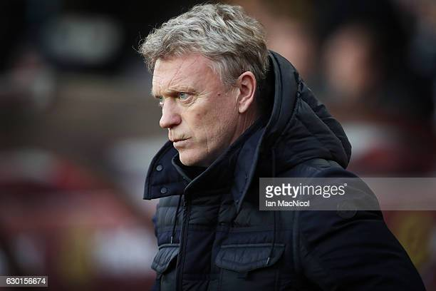 Sunderland manager David Moyes is seen during the Premier League match between Sunderland and Watford at Stadium of Light on December 17 2016 in...