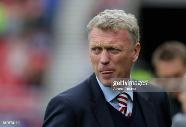 Sunderland manager David Moyes stand in the technical area during the Premier League match between Sunderland and Swansea City at the Stadium of...