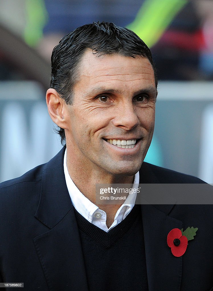 Sunderland manager <a gi-track='captionPersonalityLinkClicked' href=/galleries/search?phrase=Gustavo+Poyet&family=editorial&specificpeople=227352 ng-click='$event.stopPropagation()'>Gustavo Poyet</a> looks on during the Barclays Premier League match between Sunderland and Manchester City at Stadium of Light on November 10, 2013 in Sunderland, England.