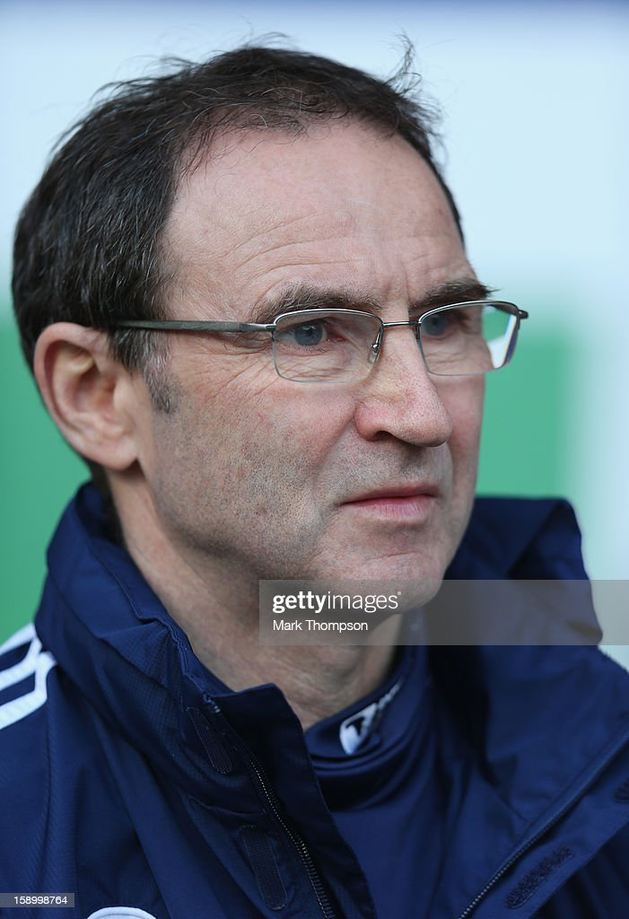 Sunderland Manager <a gi-track='captionPersonalityLinkClicked' href=/galleries/search?phrase=Martin+O%27Neill&family=editorial&specificpeople=201190 ng-click='$event.stopPropagation()'>Martin O'Neill</a> looks on prior to the FA Cup with Budweiser Third Round match between Bolton Wanderers and Sunderland at the Reebok Stadium on January 5, 2013 in Bolton, England.