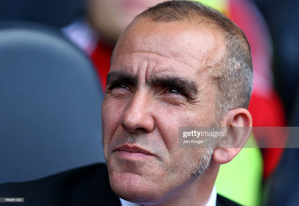 Sunderland manager Paola Di Canio looks on during the Barclays Premier League match between Tottenham Hotspur and Sunderland at White Hart Lane on May 19, 2013 in London, England.