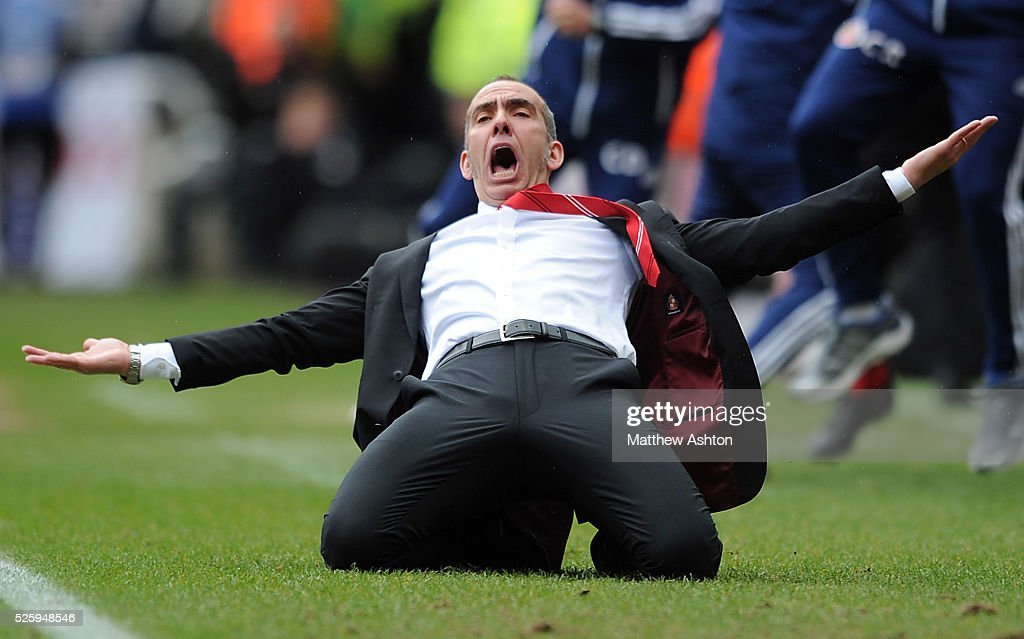 Sunderland manager Paolo Di Canio celebrates his side's second goal