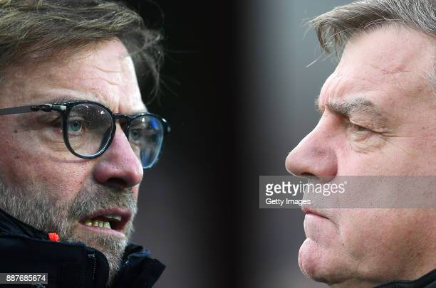 GRADIENT ADDED COMPOSITE OF TWO IMAGES Image numbers 655217112 and 495353300 In this composite image a comparision has been made between Jurgen Klopp...