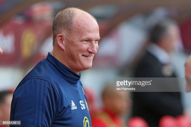 Sunderland manager Simon Grayson during the Sky Bet Championship match between Sunderland and Leeds United at Stadium of Light on August 19 2017 in...