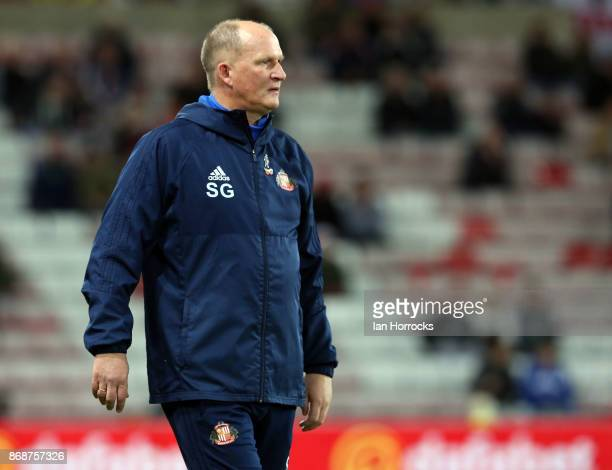 Sunderland manager Simon Grayson during the Sky Bet Championship match between Sunderland and Bolton Wanderers at Stadium of Light on October 31 2017...