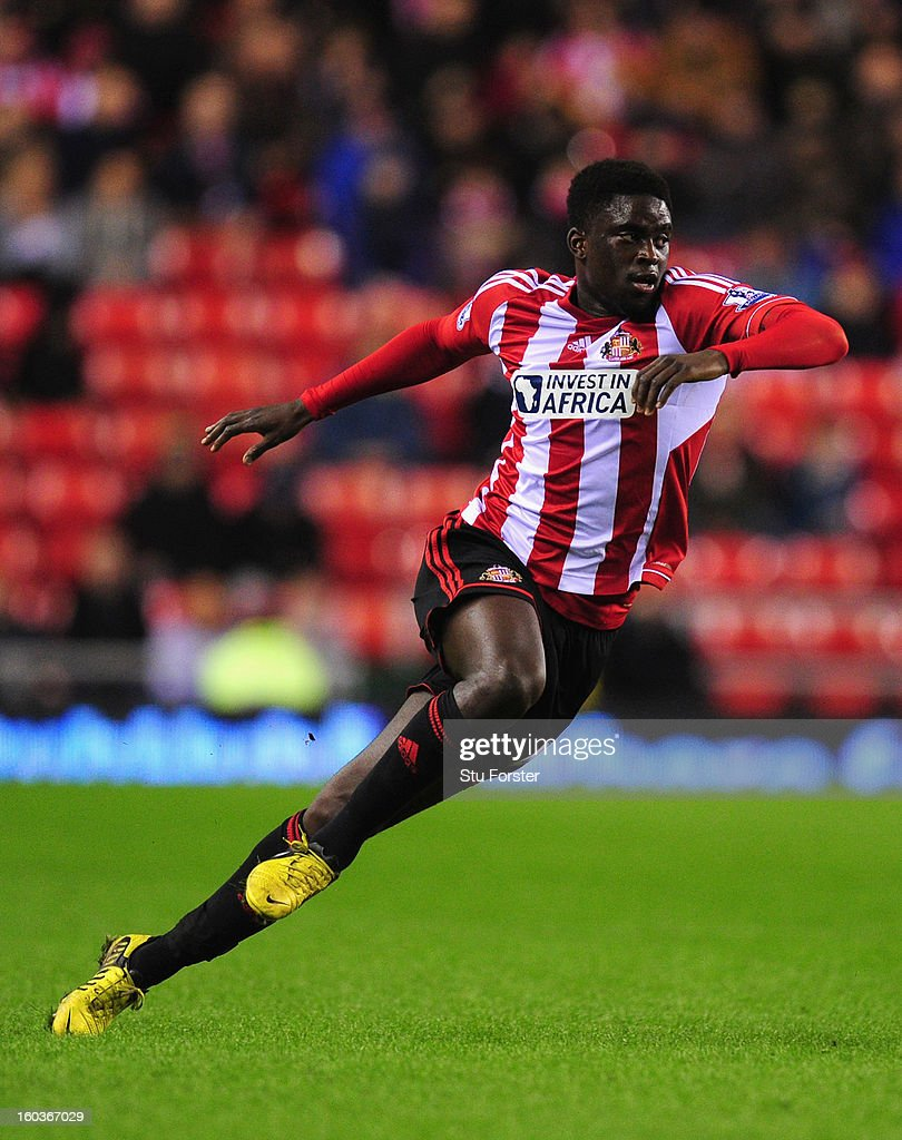 Sunderland player Alfred N'Diaye in action during the Barclays Premier League match between Sunderland and Swansea City at Stadium of Light on January 29, 2013 in Sunderland, England.