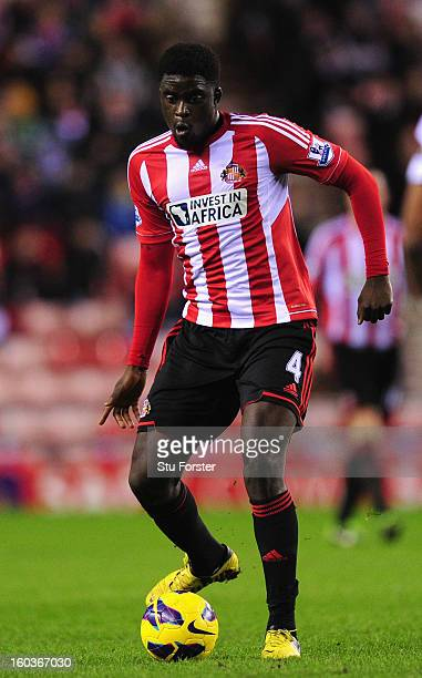 Sunderland player Alfred N'Diaye in action during the Barclays Premier League match between Sunderland and Swansea City at Stadium of Light on...