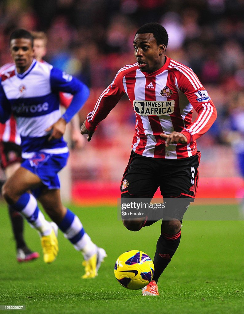 Sunderland player Danny Rose in action during the Premier League match between Sunderland and Reading at Stadium of Light on December 11, 2012 in Sunderland, England.