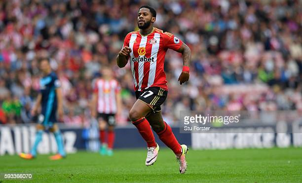 Sunderland player Jeremain Lens in action during the Premier League match between Sunderland and Middlesbrough at Stadium of Light on August 21 2016...