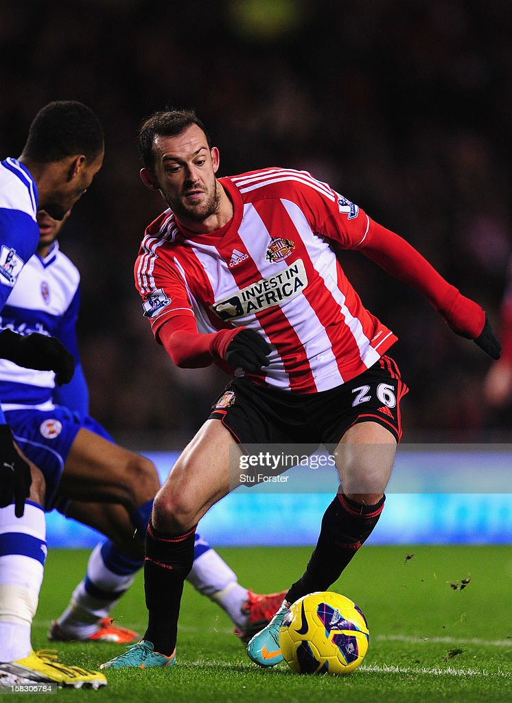 Sunderland player Steven Fletcher in action during the Premier League match between Sunderland and Reading at Stadium of Light on December 11, 2012 in Sunderland, England.