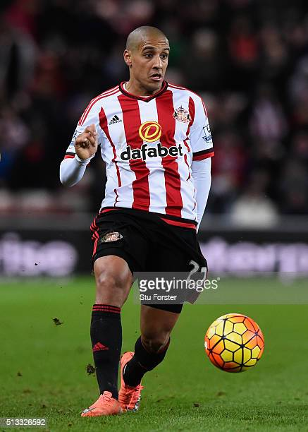 Sunderland player Wahbi Khazri in action during the Barclays Premier League match between Sunderland and Crystal Palace at Stadium of Light on March...