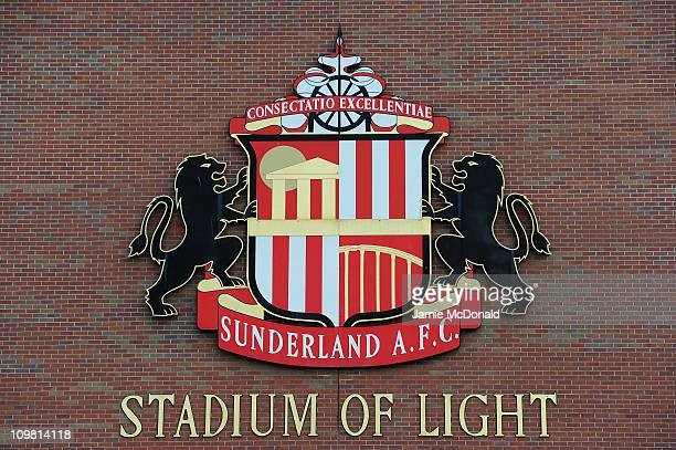 Sunderland sign is seen outside of The Stadium of Light home of Sunderland Football Club on March 6 2011 in Sunderland England